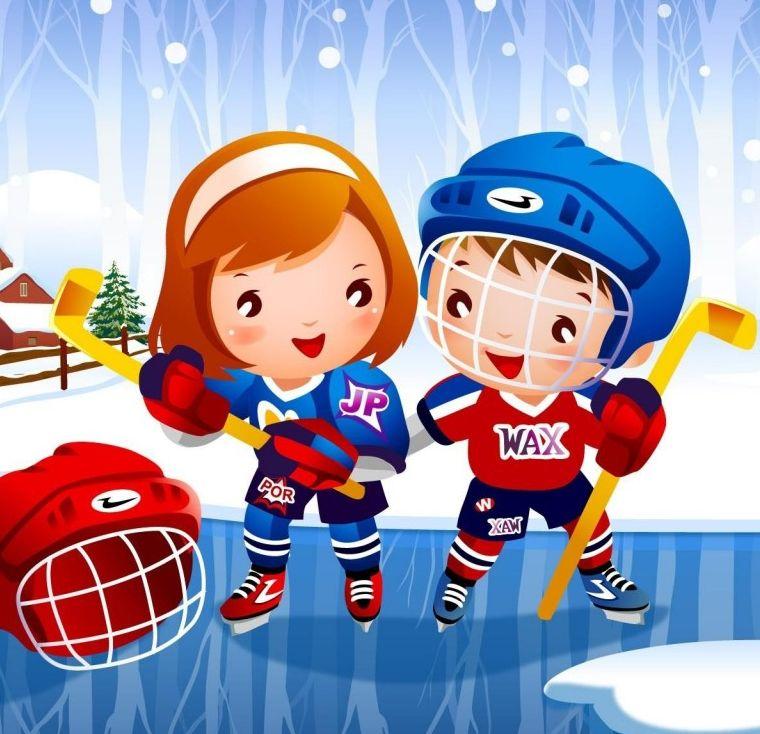 Открытки детские о спорте, днем