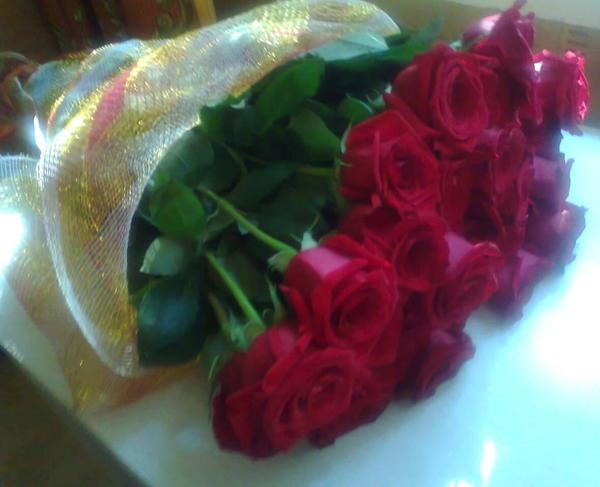 Фото букетов роз дома