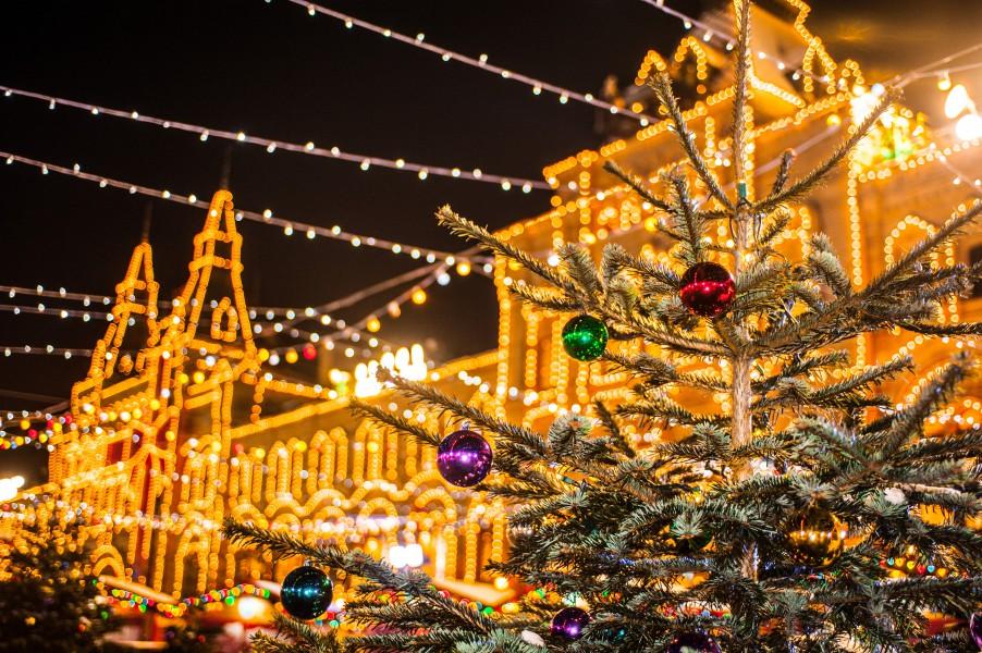 Украшение центра москвы к новому году