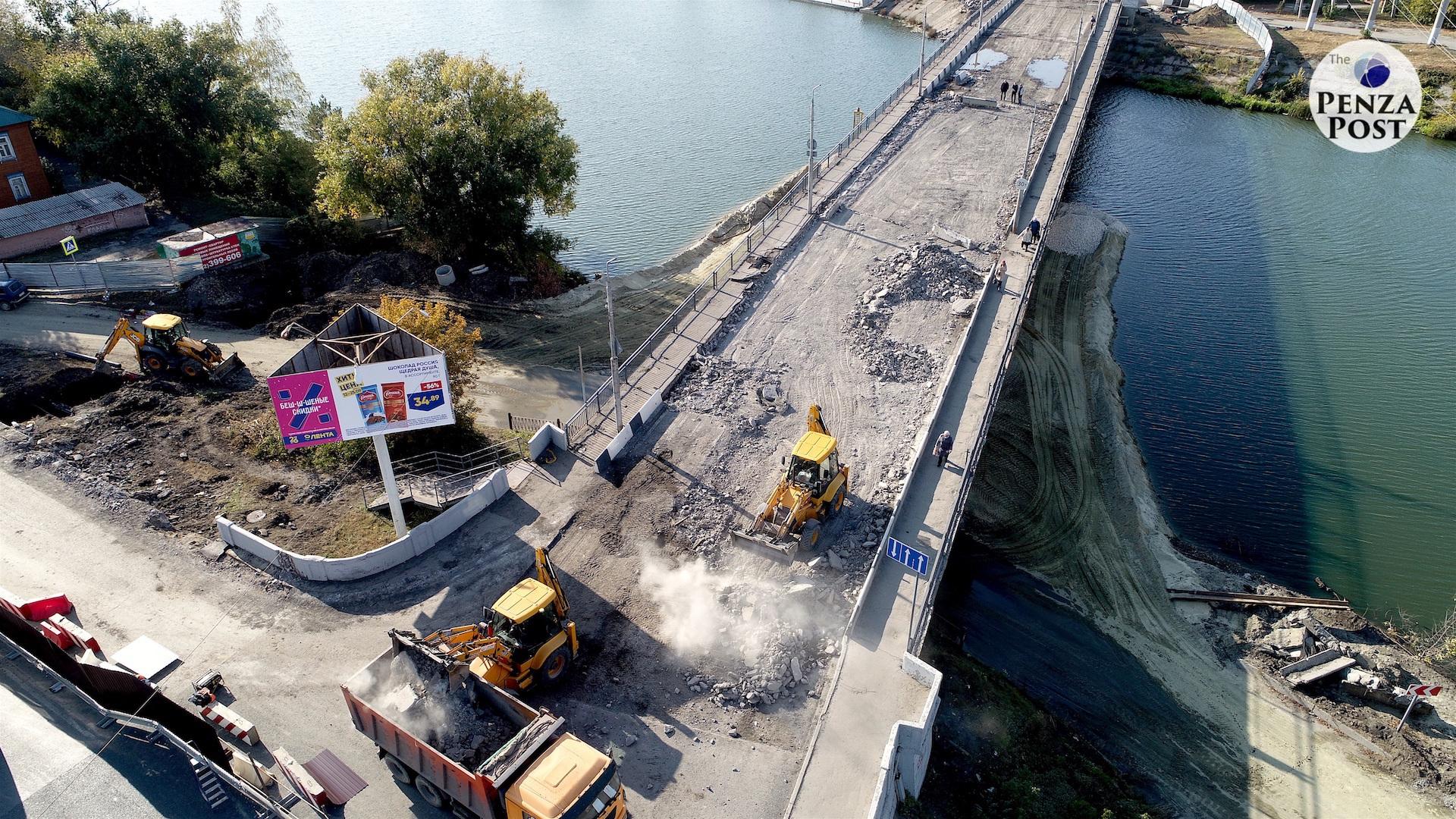 Назван срок окончания строительства Бакунинского моста в Пензе
