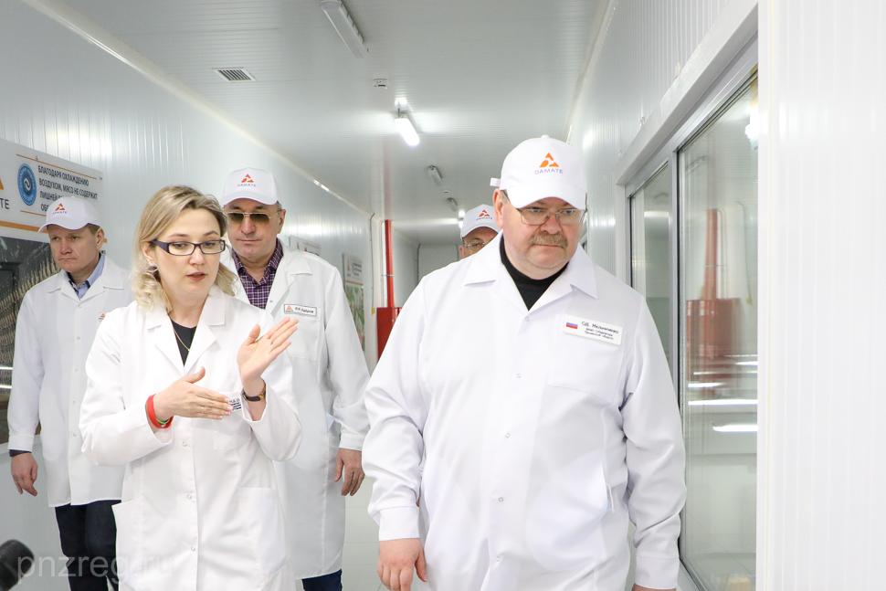 Олег Мельниченко оценил производство ГК «Дамате» в Нижнеломовском районе
