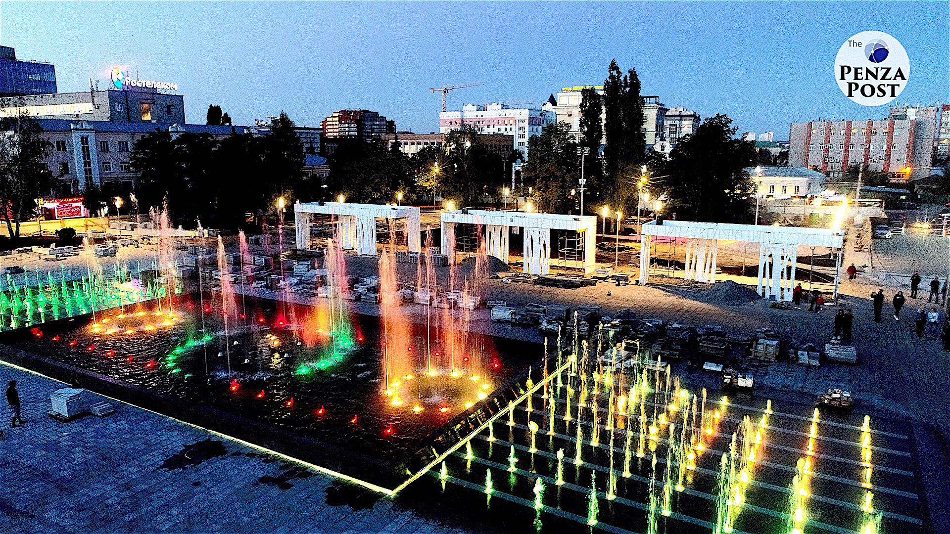 Опубликован график работы пензенского фонтана в мае