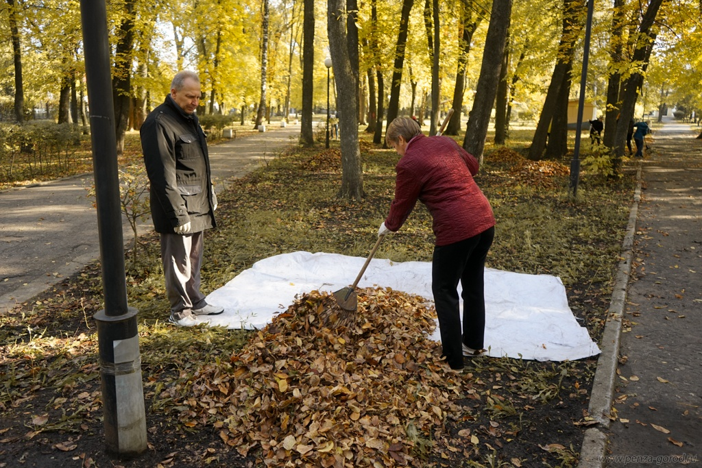В Пензе в Комсомольском парке навели порядок