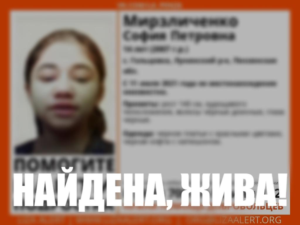 В Пензенской области завершились поиски 14-летней девочки