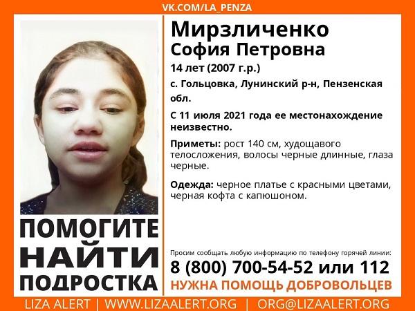 В Пензенской области ищут 14-летнюю девочку