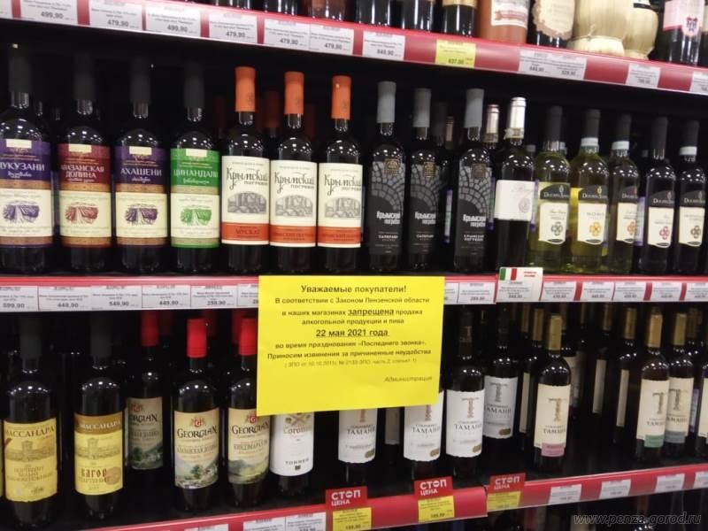 В Пензе были выявлены факты продажи алкоголя в день Последнего звонка